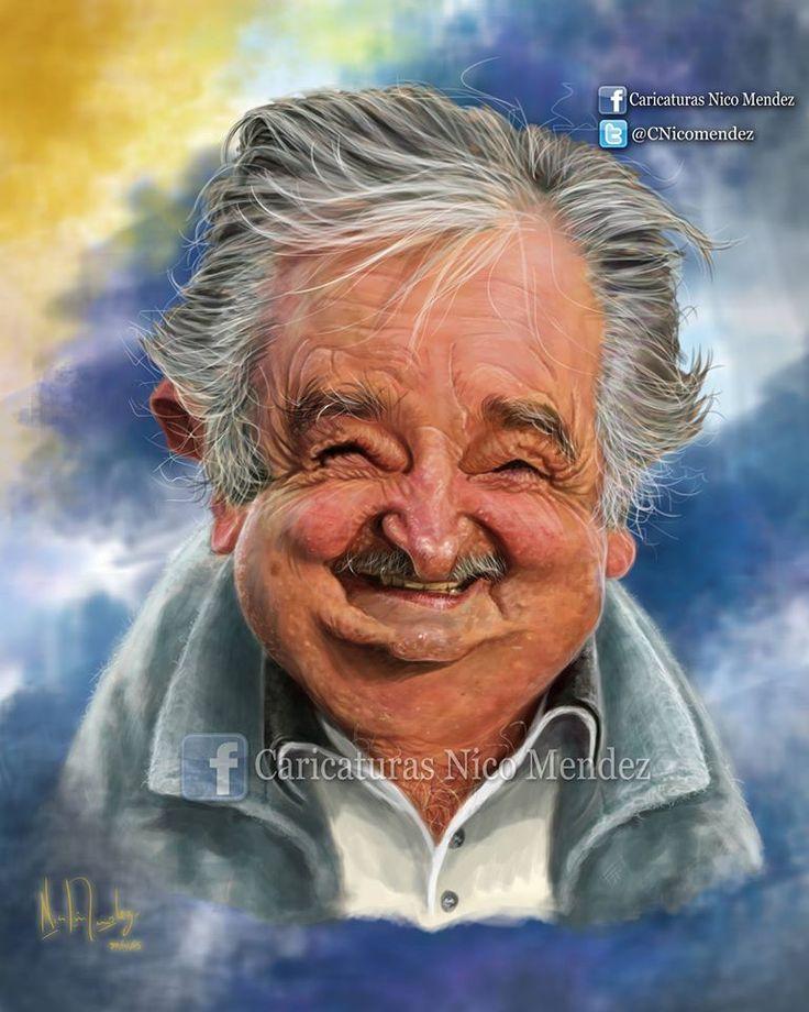 """(Caricatura) Pepe Mujica ./ """"Esta vez me propuse dibujar la caricatura mas hiperrealista del """"Pepe"""" , con mucho laburo para que sea un trabajo digno del personaje realizado."""""""