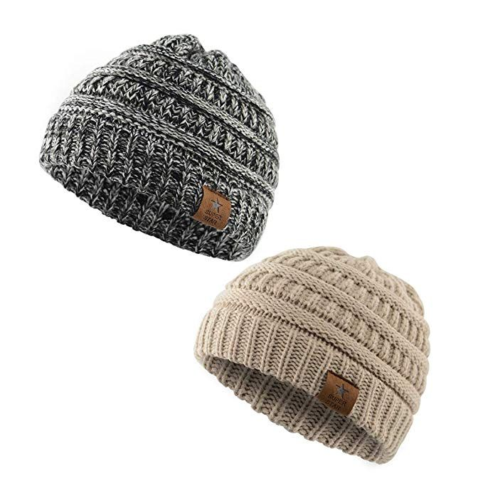American Trends Kids Baby Boy Girl Winter Knit Warm Hats Infant Toddler  Beanie Caps  halloween  gift c1540380bd1