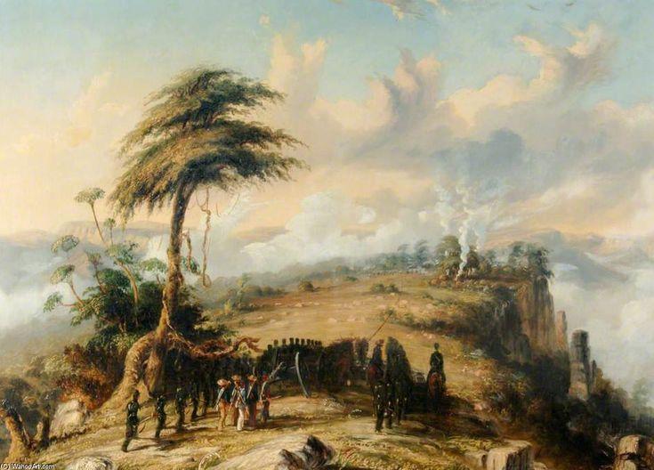 Coy de Captain Lord Russel avec un détachement de six livres de l Artillerie royale escarmouche contre les Cafres de Thomas Baines (1820-1875, United Kingdom)