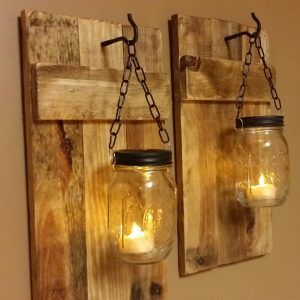Orange Candle Wall Sconce