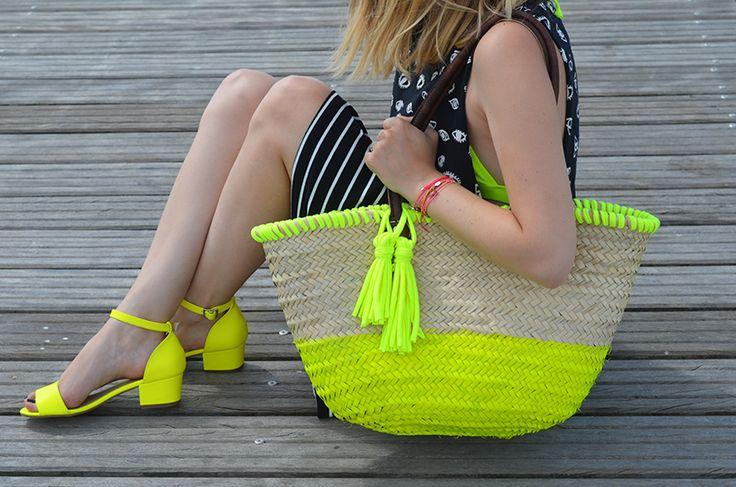 DIY : Panier en osier neon. // Margot - You Make Fashion
