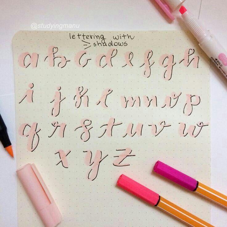 Abecedario En Letra Cursiva Lettering