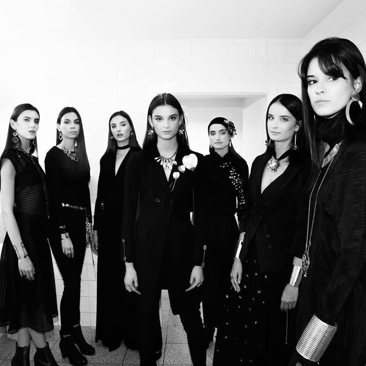 Beautiful models on backstage of our  new collection PLANTIS by Anna Orska. Photo Aga Szenrok