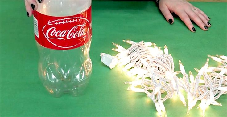 Transform An Old Coke Bottle To Make A Beautiful Holiday Lamp via LittleThings.com