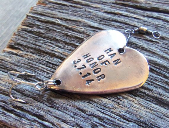 Man of Honor Gift for Best Man Bestman by CandTCustomLures on Etsy, $19.00