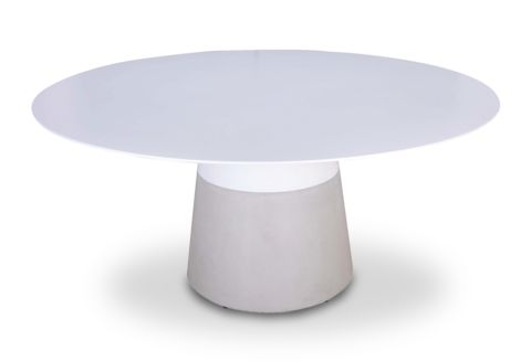 Maldives Dining Table - Don't be square! We love this sleek round Dining Table for the deck or back yard. Instant outdoor mod-fication!