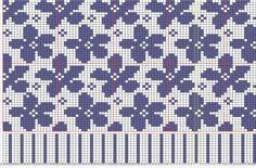 Flower design Bord : Durchy Fair-isle & jaquard knitting