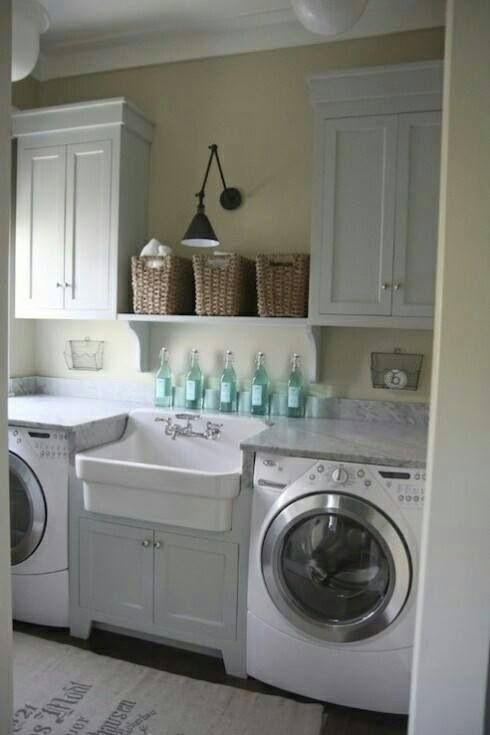 11/12/2017 Here's a pic of my small, functional rustic laundry room