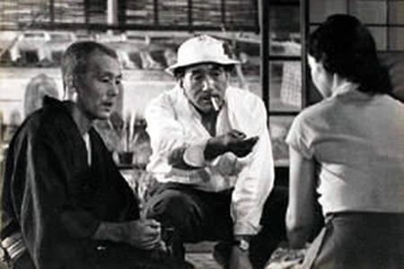 TOKYO STORY(1953)|directed by Yasujiro Ozu, (小津 安二郎 |It tells the story of an aging couple who travel to Tokyo to visit their grown children. The film contrasts the behavior of their children, who are too busy to pay them much attention, and their widowed daughter-in-law, who treats them with kindness.  It is often regarded as Ozu's masterpiece, and has appeared several times in the British Film Institute lists of the greates.#japan