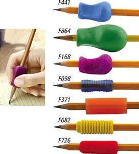 Handwriting is often a struggle for individuals with an special needs. Those who lack fine motor skills such as holding a pen or pencil, will affect their handwriting. Pencil grips help children and adults become more successful with writing tasks.