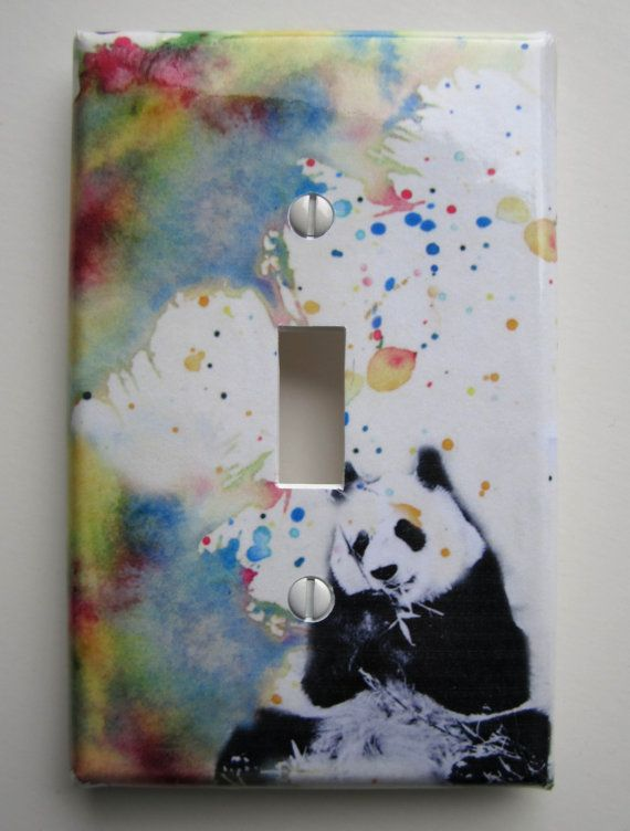 Panda Bear Decorative Light Switch Cover Great Kids Room Decor and Baby Nursery Art decor