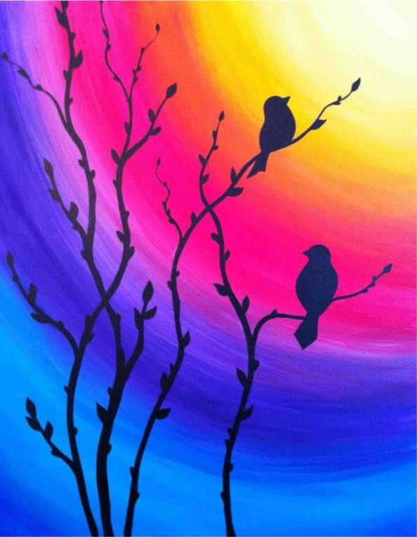 Easy Acrylic Painting Ideas For Beginners Oil Pastel Art Oil