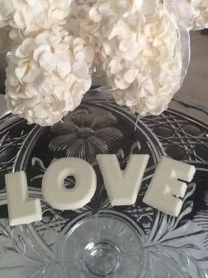 Love letters White Chocolate Favour