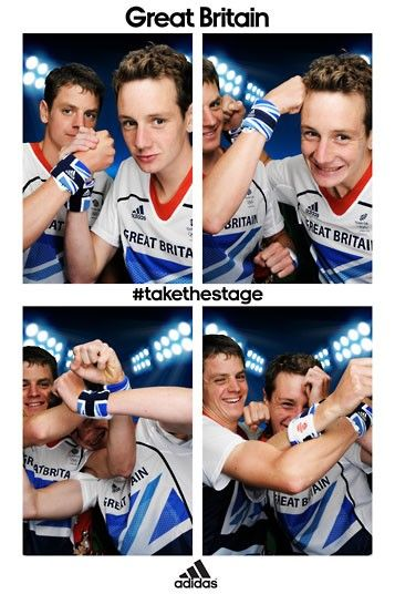 Team GB triathletes and brothers Alistair and Jonathan Brownlee. They're cute!!