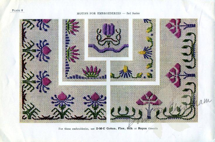 Gallery.ru / Фото #10 - Vintage DMC - Motifs for Embroideries No 3 - Dora2012