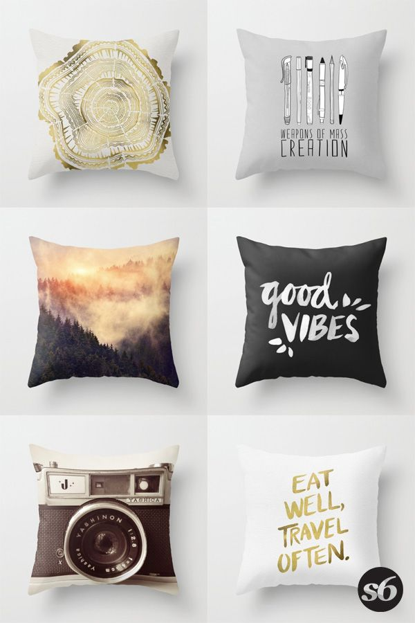 Throw Pillows and millions of other products available at Society6.com today. Every purchase supports independent art and the artist that created it.