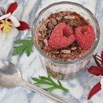 Čokoládovo-malinový pudink z chia semínek