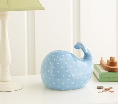 Piggy bank pottery barn kids and nantucket on pinterest - Nautical piggy banks ...