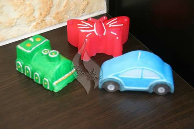 #car #train #butterfly #candles #candlesland