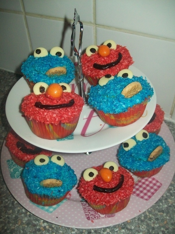 Elmo And Cookie Cup CakesCookie Cups, Cupcakes Ideas, Cookies Cups, Cookies Cupcakes, Cupcakes Rosa-Choqu