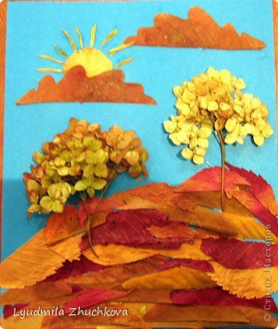 Картина панно рисунок Флористика Праздник осени Аппликация флористика Осенний пейзаж Материал природный фото 11