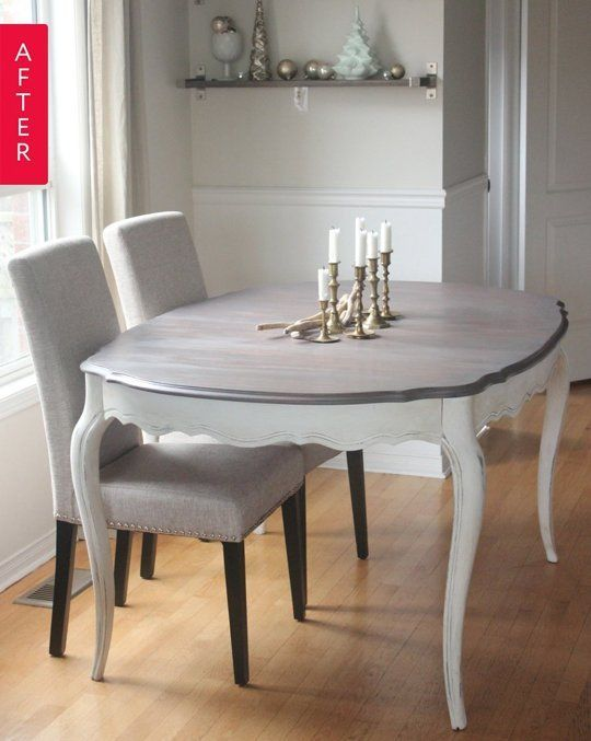 Ideas For Refinishing Dining Room Table And Charis