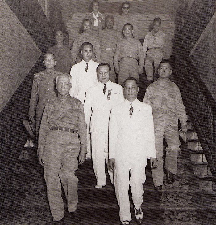 Manuel Roxas was inducted into office as President having been elected on April 23, 1946. Roxas took his oath of office in a temporary structure built near the ruins of the Legislative Building.