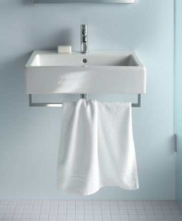 Love that this has towel bar built in! Duravit - Bathroom design series: Vero - washbasins, toilets, bidets and bath tubs from Duravit.