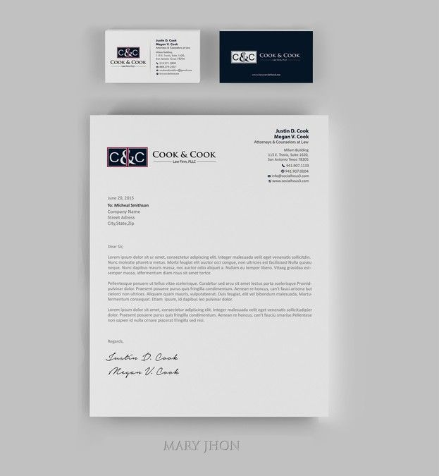 law office letterhead - Acurlunamedia