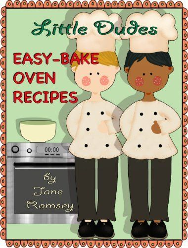 "Little Dudes Easy Bake Oven Recipes Start your budding baker off right with this collection of recipes for the Easy Bake Oven. With 64 recipes to choose from you're sure to find something fun to make together. This book is for boys and there is another book for girls called ""Little Princess Easy Bake Oven Recipes"". ~ Kindle Purchase Price: $2.99 Prime Members: $FREE$ (borrow for free from your Kindle)"