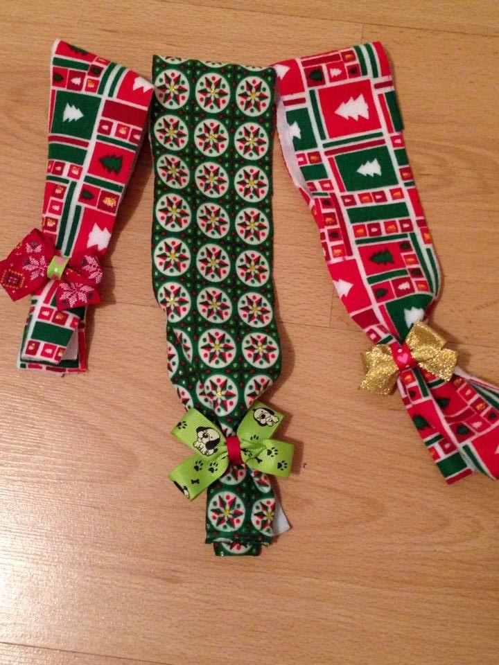 Bufandas navideñas para mascotas. #Bufandas #Mascotas #Navidad