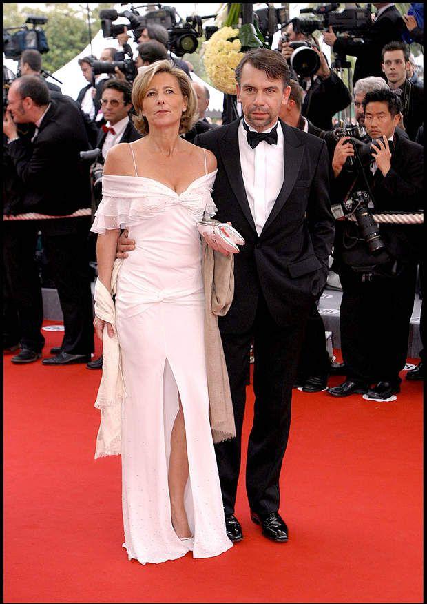 Claire Chazal et Philippe Torreton en 2004 à Cannes
