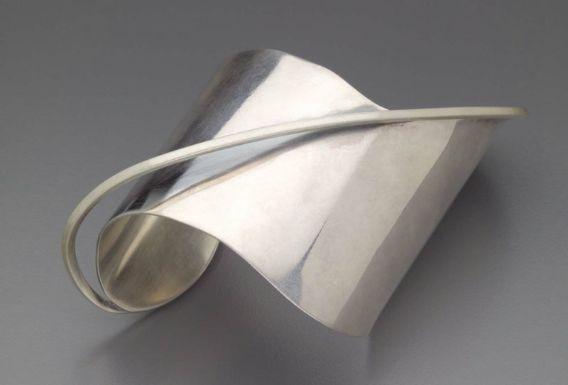 Bracelet | Ed Wiener.  Sterling silver. c. 1948