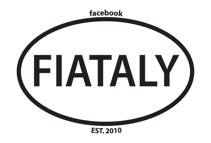 Euro Stickers are in! Get yours today! FIATALY is a LOVE Affair with FIAT & anything ITALIAN! (Pronounced fē ä tə lē). Why not Like our facebook Fan Page too? www.facebook.com/FIATALY
