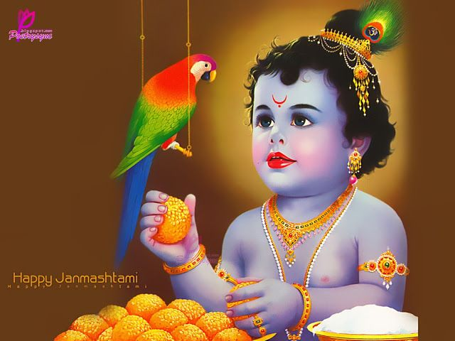 Poetry: Krishna Janmashtami Greeting Cards with SMS