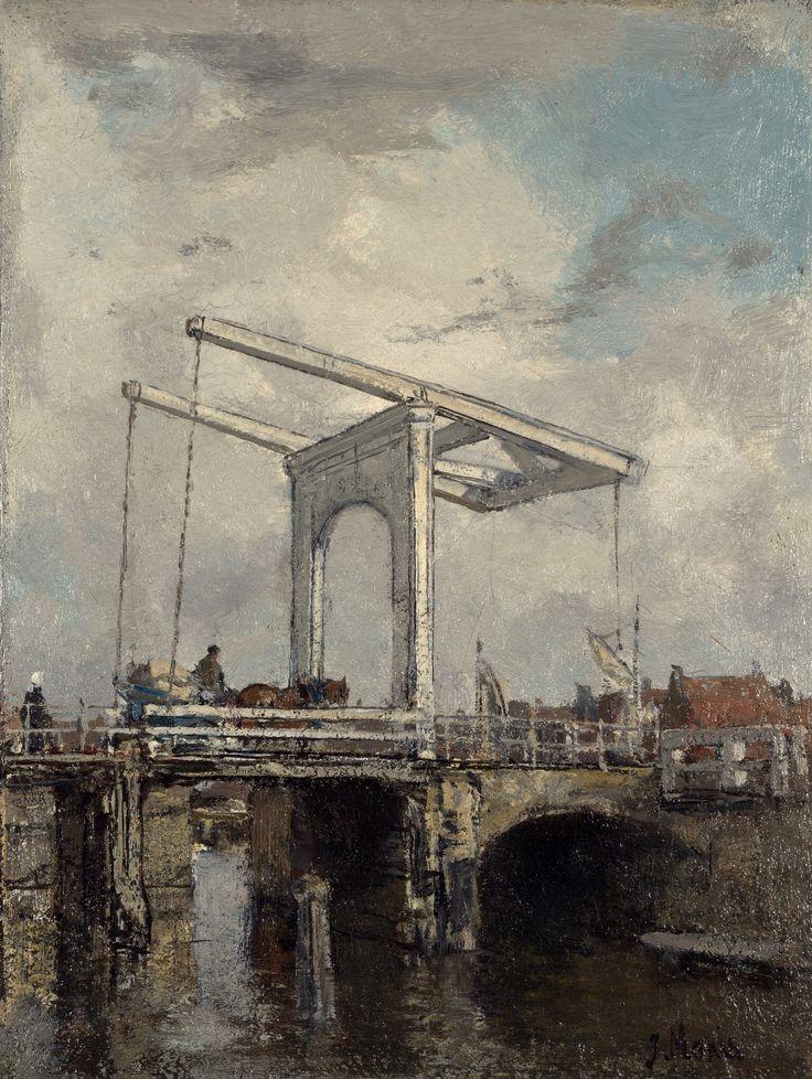 A Drawbridge in a Dutch Town, c.1875 by Jacob Maris (Dutch, 1837-1899)