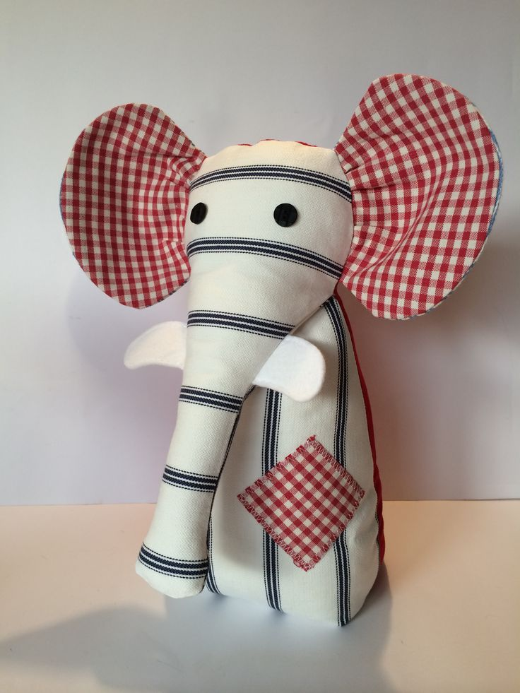 Patchwork Style Elephant Door Stop. Taken from www.facebook.com/A Bundle Of Crafts