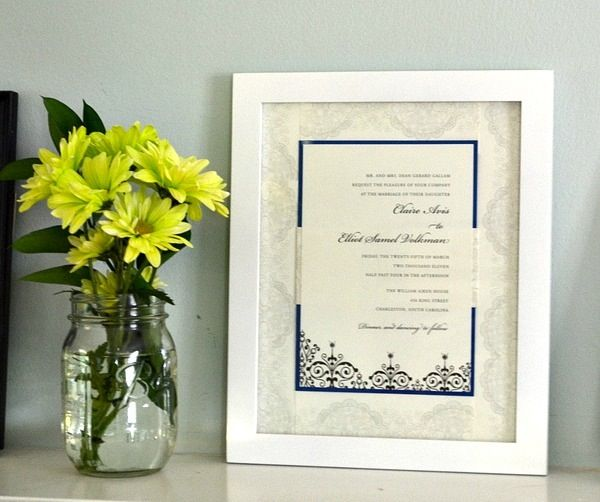 17 Best Images About Wedding Invitations Framed Keepsake