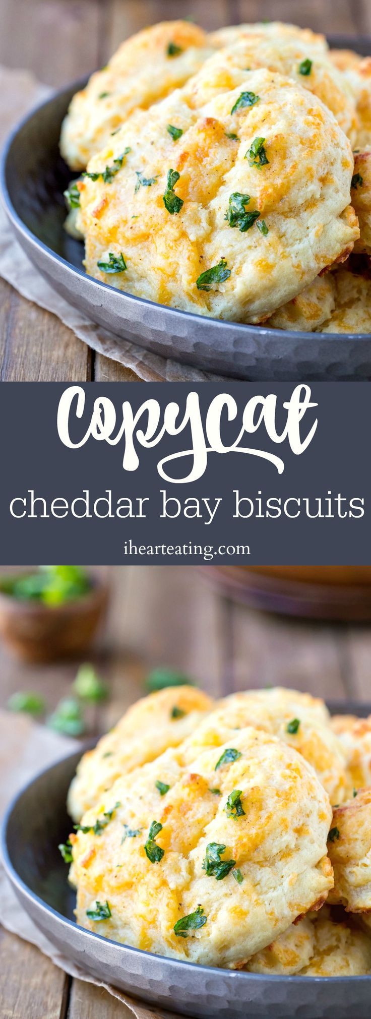 Copycat Cheddar Bay Biscuit Recipe is a simple cheddar garlic drop biscuit recipe that tastes just like the Red Lobster biscuits.