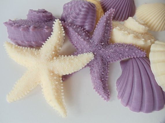 Nice Beach Soap Set   Lavender Ivory Seashell And Starfish, Gift For Her, Gifts  For Teen. Organic SoapHomemade SoapsRestaurant BathroomDecorative ...