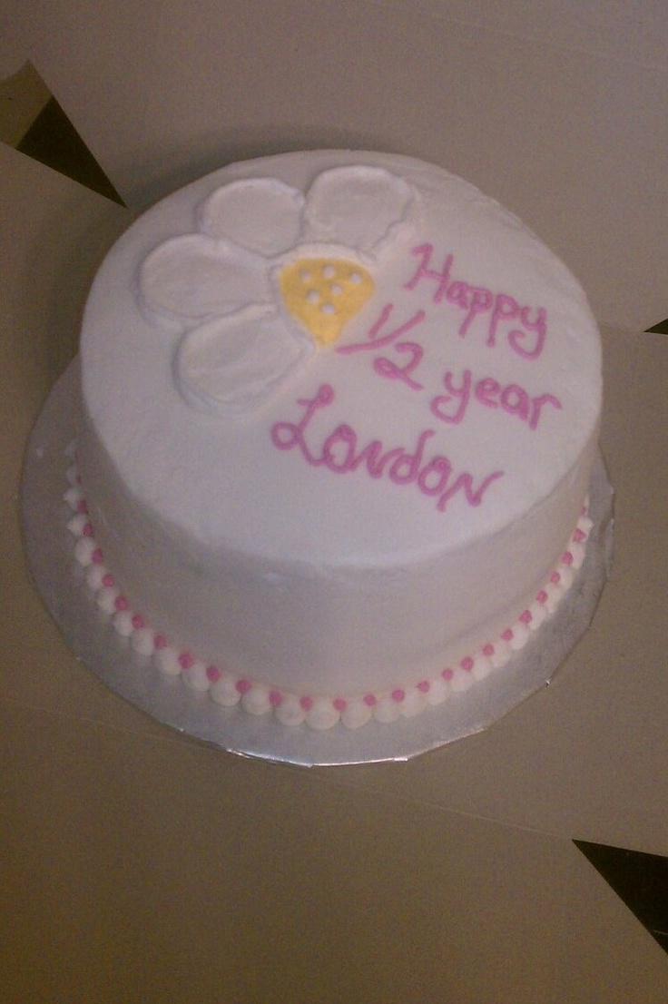 Month Birthday Cake 6 Pinterest