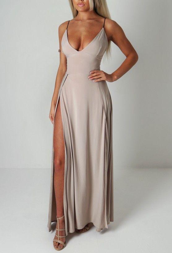 Natalay Stone Double Split Maxi Dress