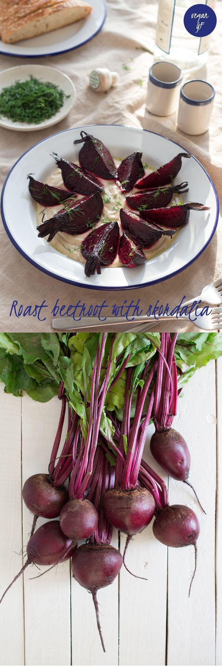 Beetroot with Greek skordalia sauce is a classic Greek dish that's so simple yet to die for. Skordalia is a garlicky dip that complements sweet beetroot super well.