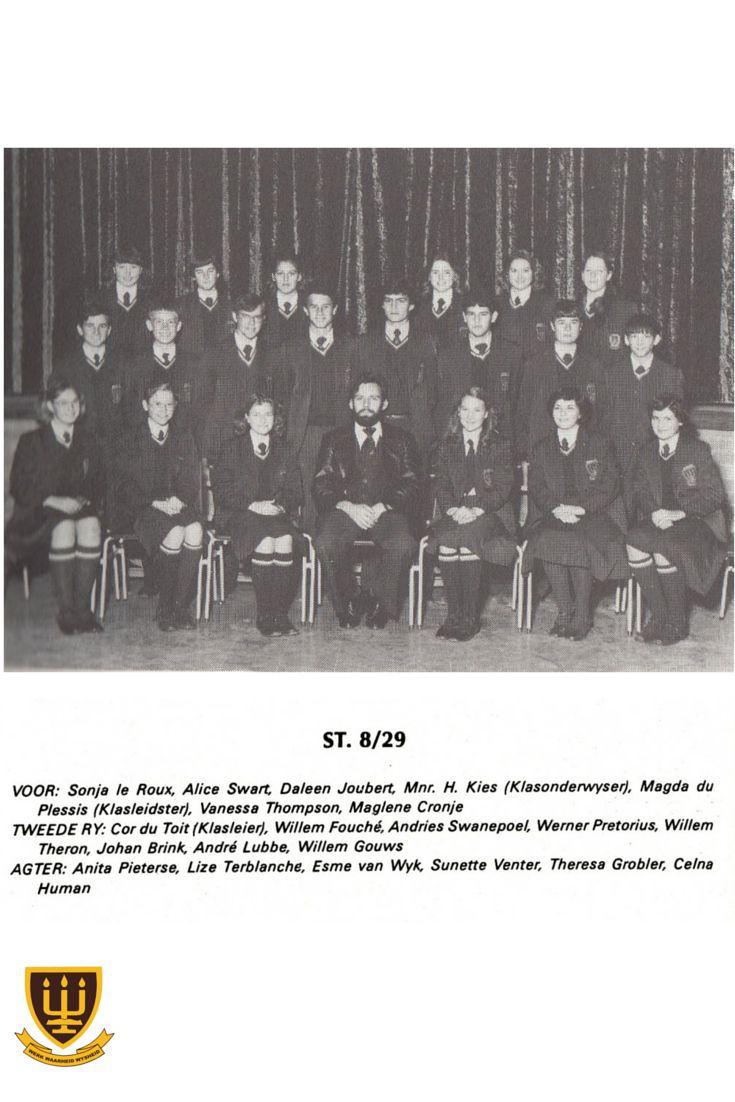 ST. 8/29 klasonderwyser - Mnr. H Kies #1980 #WesvaliaHistory