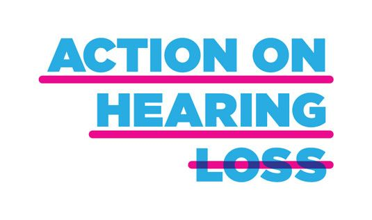underlining one part of the logo and striking through the rest highlights the positive - being able to hear and the strikethrough eliminates the negative - loss of hearing logo is a call to action