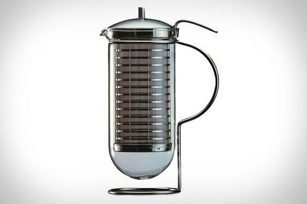 Cafino Coffee Maker - Made in Germany using stainless steel and glass, it uses a double stainless steel mesh sieve to hold your freshly-ground beans, a borosilicate glass cylinder to hold the boiling water — and eventually your coffee — and an integrated handle to make pouring as easy as brewing.