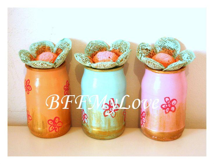Flowers in a jar (30 LEI la BFFMyLove.breslo.ro)