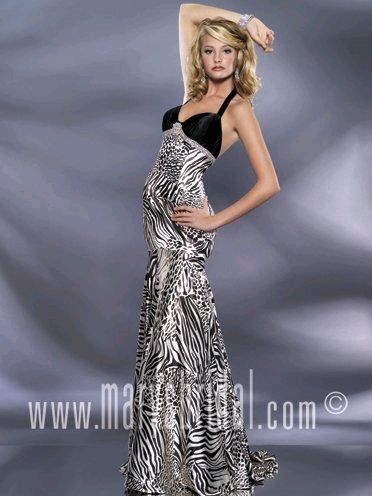 Astra Formal - Kiss Kiss 3797 | Size 6 Black and White