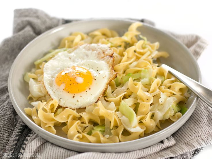 Halusky is a simple, filling, and inexpensive dish made with sautéed cabbage, tender egg noodles, and butter. BudgetBytes.com