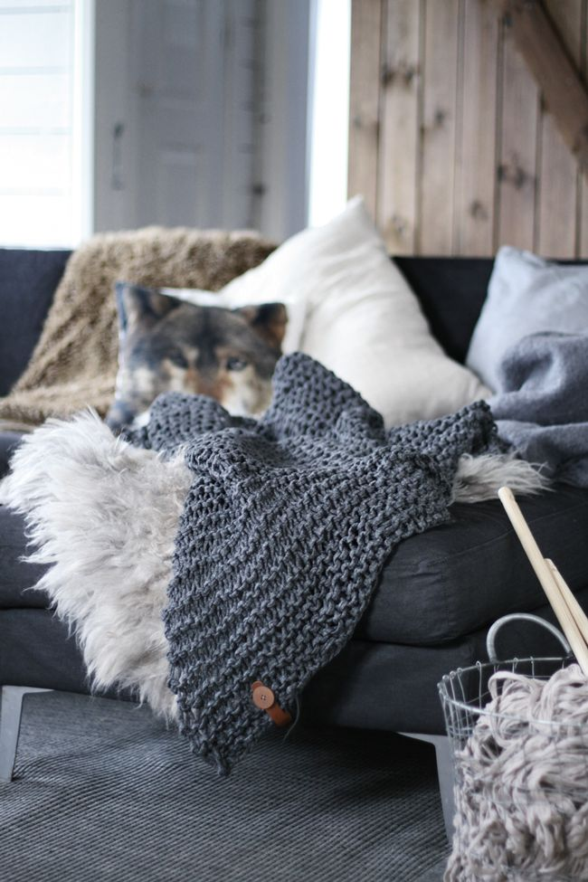 + #knitting #gray #living #winter